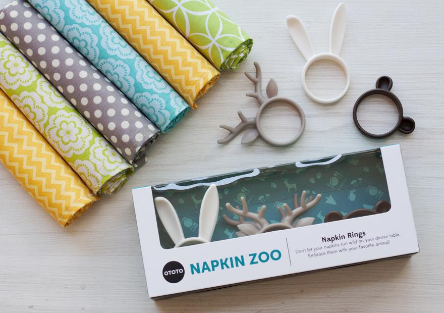 חבקי מפיות מסדרת napkin zoo
