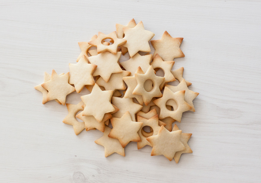 עוגיות חמאה בצורת מגן דוד