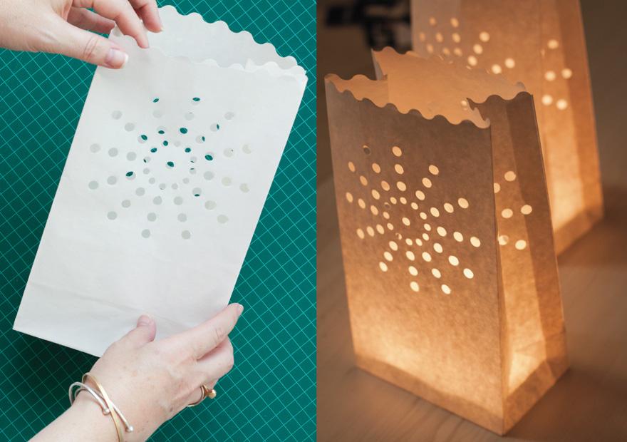 שקיות נייר מאירות - פנסי אינסטגרם