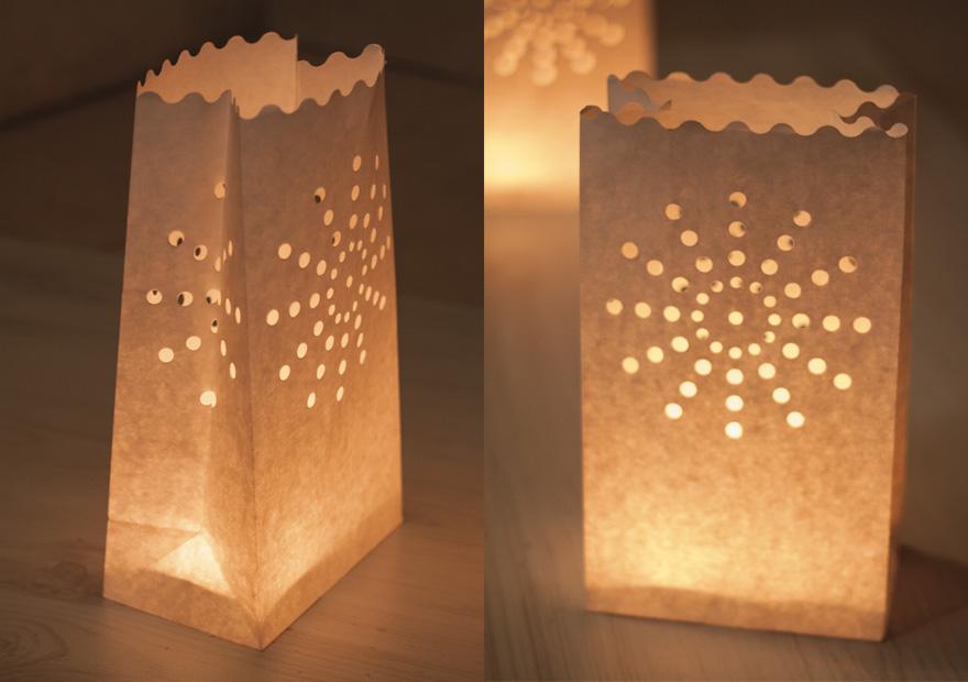 שקיות נייר לבנות לתאורה